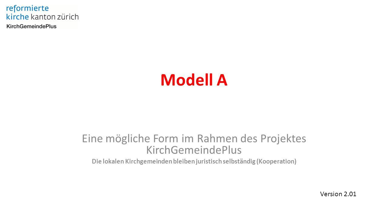 Modell A Eine mögliche Form im Rahmen des Projektes KirchGemeindePlus Die lokalen Kirchgemeinden bleiben juristisch selbständig (Kooperation) Version 2.01