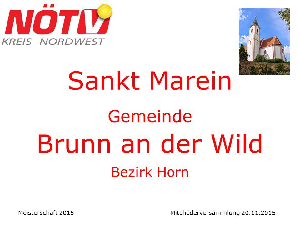 Bundesliga Damen 2. BL:8. UTK Mautern ↓ Meisterschaft 2015 Mitgliederversammlung 20.11.2015