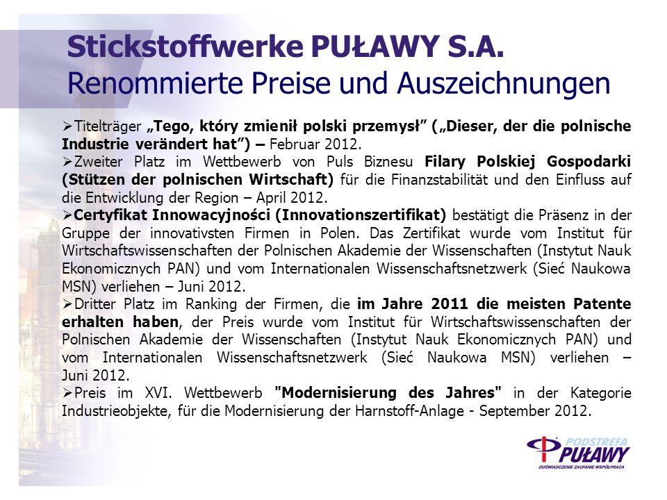 Stickstoffwerke PUŁAWY S.A.