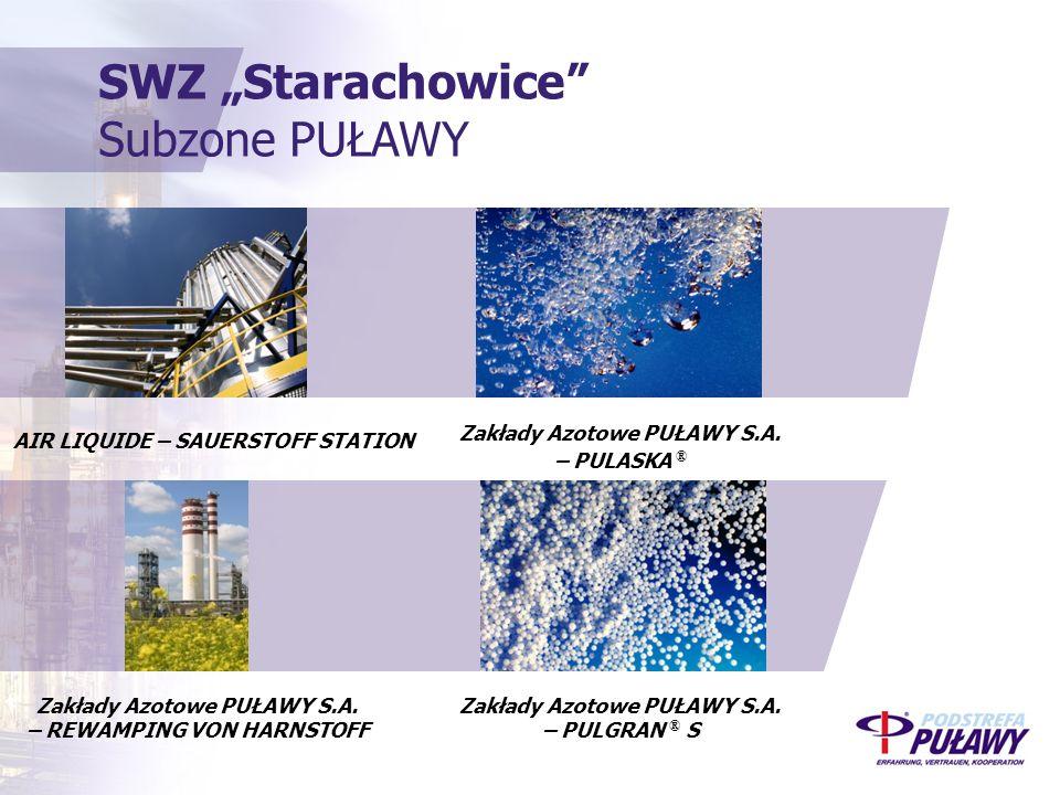 """SWZ """"Starachowice Subzone PUŁAWY AIR LIQUIDE – SAUERSTOFF STATION Zakłady Azotowe PUŁAWY S.A."""