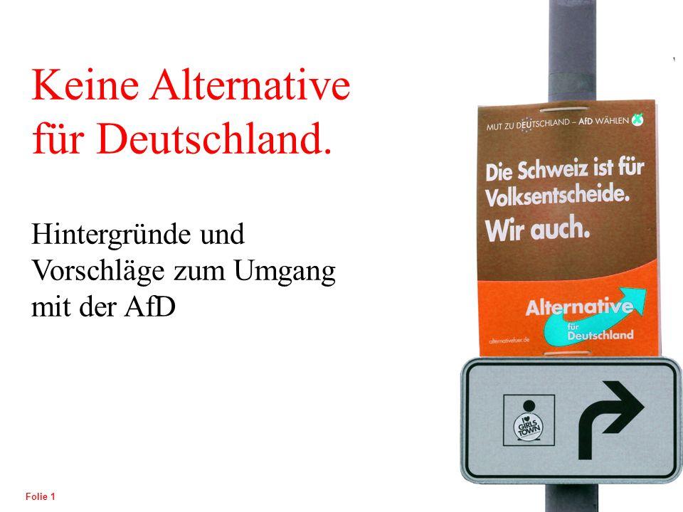 POLITISCHE BILDUNG Folie 1 Keine Alternative für Deutschland.