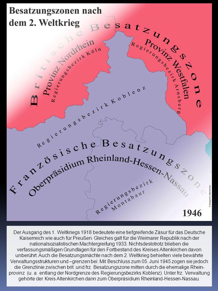 Der Ausgang des 1. Weltkriegs 1918 bedeutete eine tiefgreifende Zäsur für das Deutsche Kaiserreich wie auch für Preußen. Gleiches galt für die Weimare