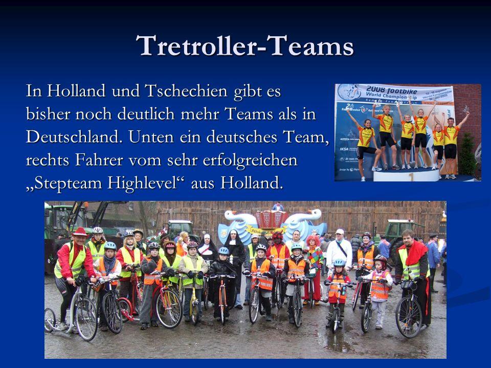 Tretroller-Teams In Holland und Tschechien gibt es bisher noch deutlich mehr Teams als in Deutschland.