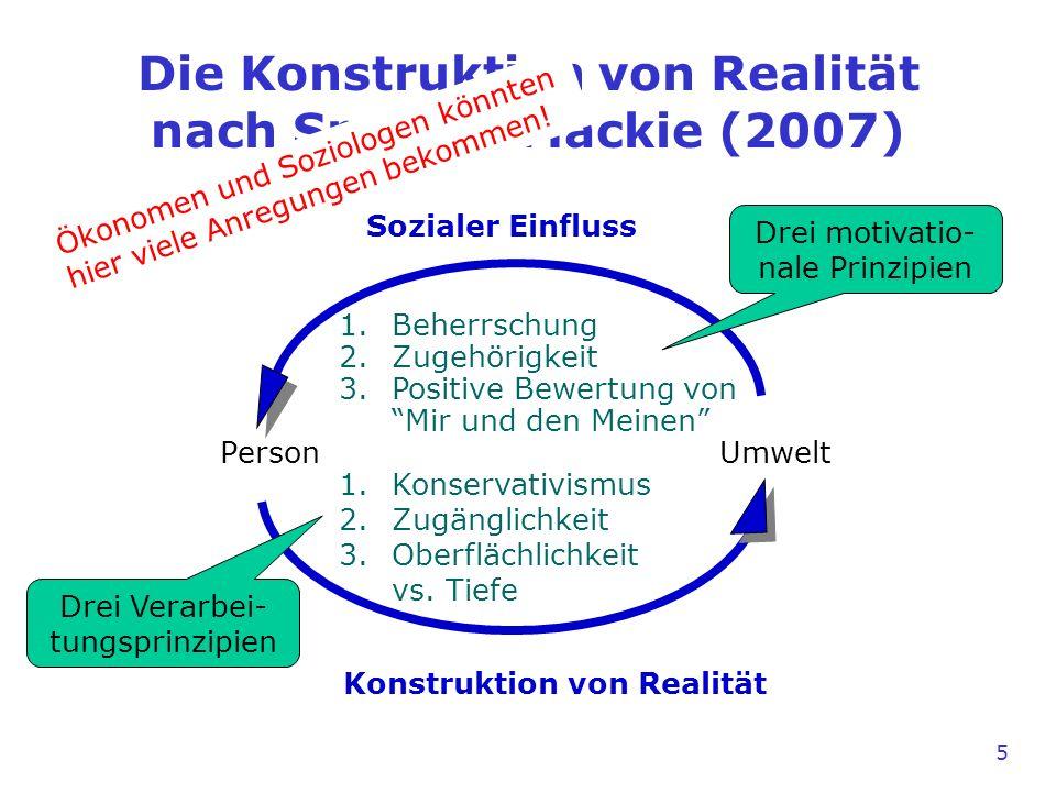 1.Beherrschung 2.Zugehörigkeit 3.Positive Bewertung von Mir und den Meinen 1.Konservativismus 2.Zugänglichkeit 3.Oberflächlichkeit vs.