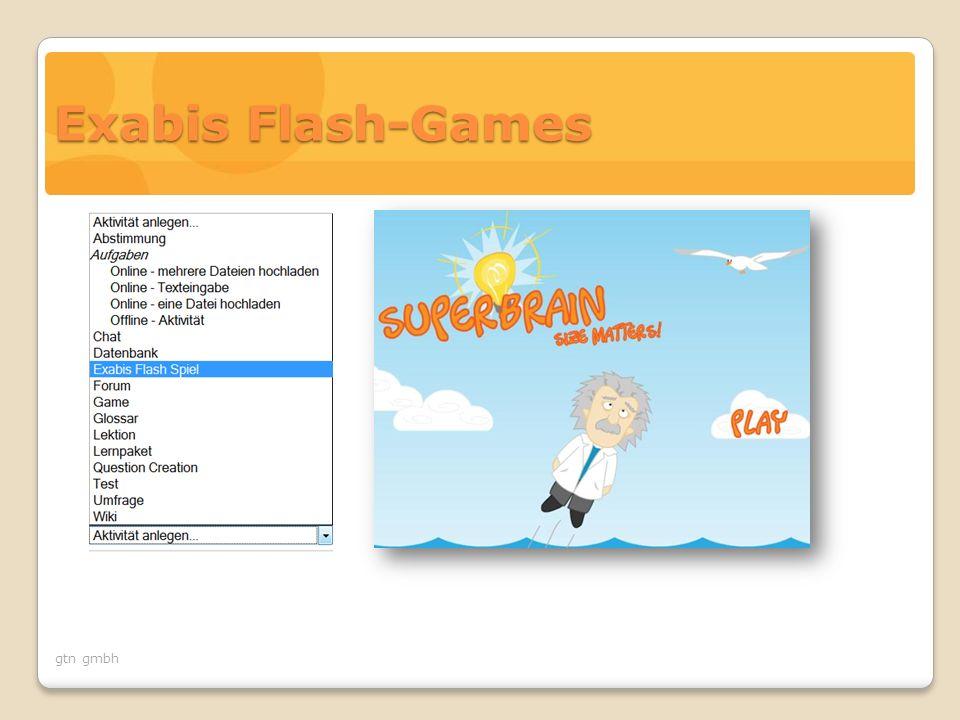 gtn gmbh Exabis Flash-Games