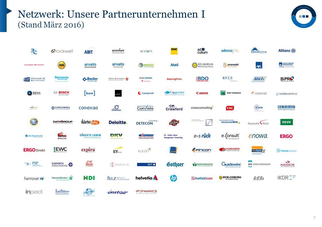 7 Netzwerk: Unsere Partnerunternehmen I (Stand März 2016)