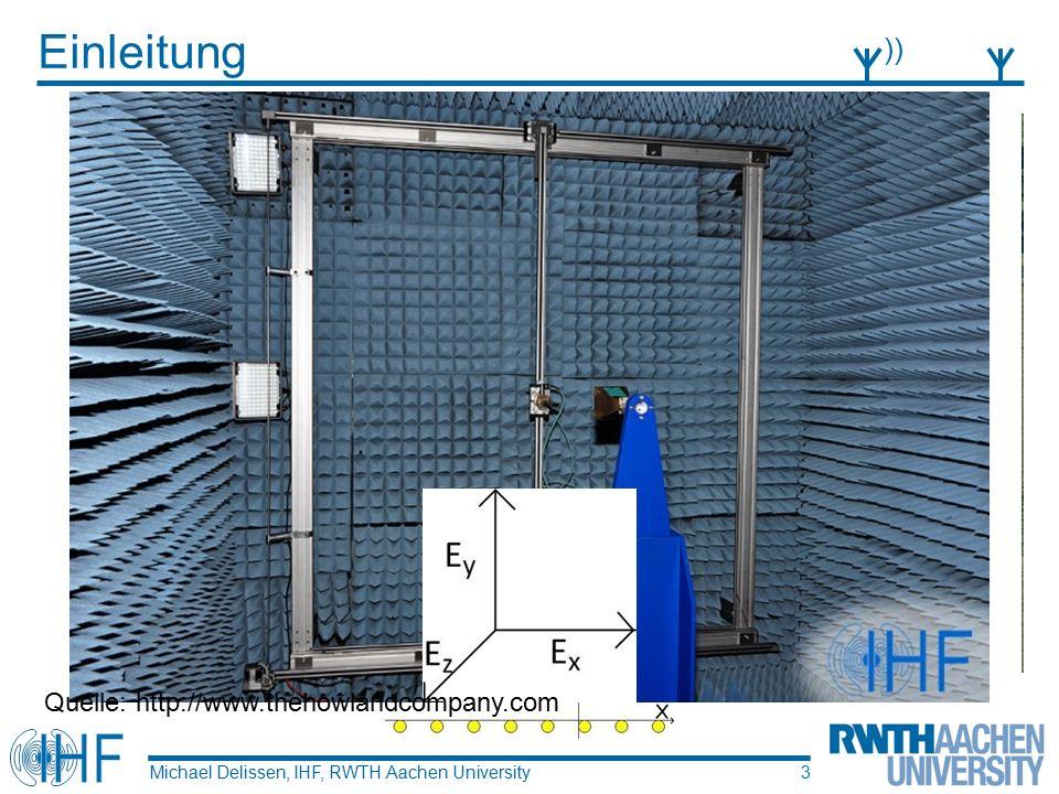 Auswertung der Tests Michael Delissen, IHF, RWTH Aachen University )))))))))) 14