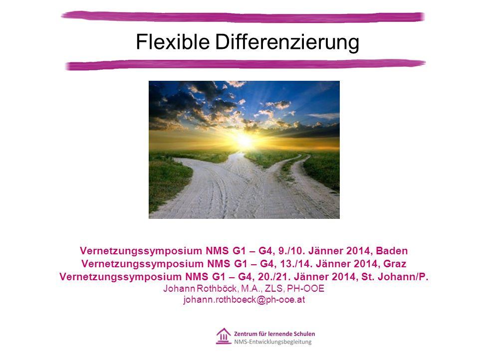 Flexible Differenzierung Vernetzungssymposium NMS G1 – G4, 9./10.