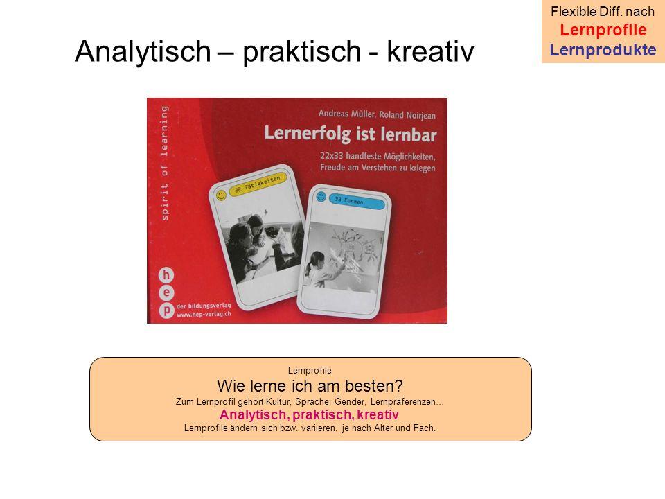 Analytisch – praktisch - kreativ Flexible Diff.