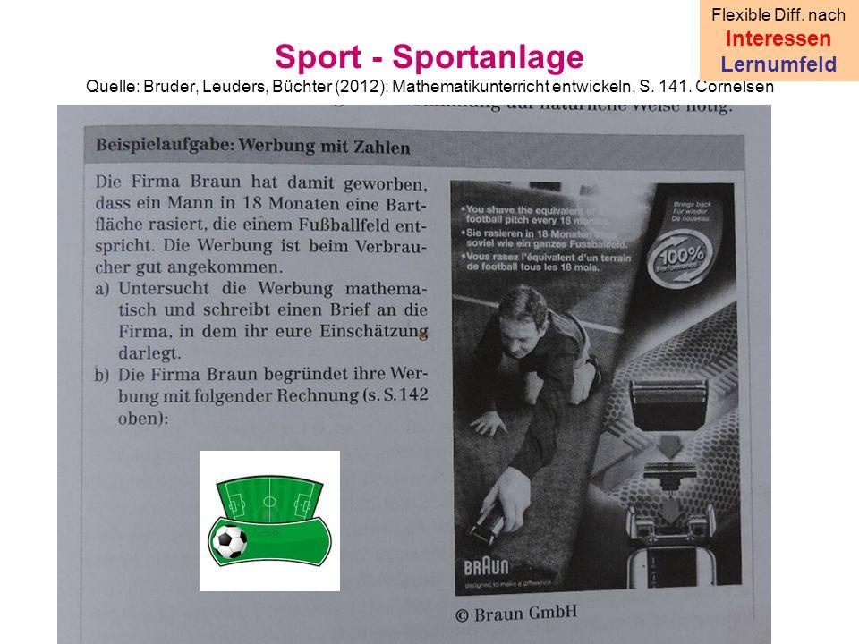 Sport - Sportanlage Quelle: Bruder, Leuders, Büchter (2012): Mathematikunterricht entwickeln, S.