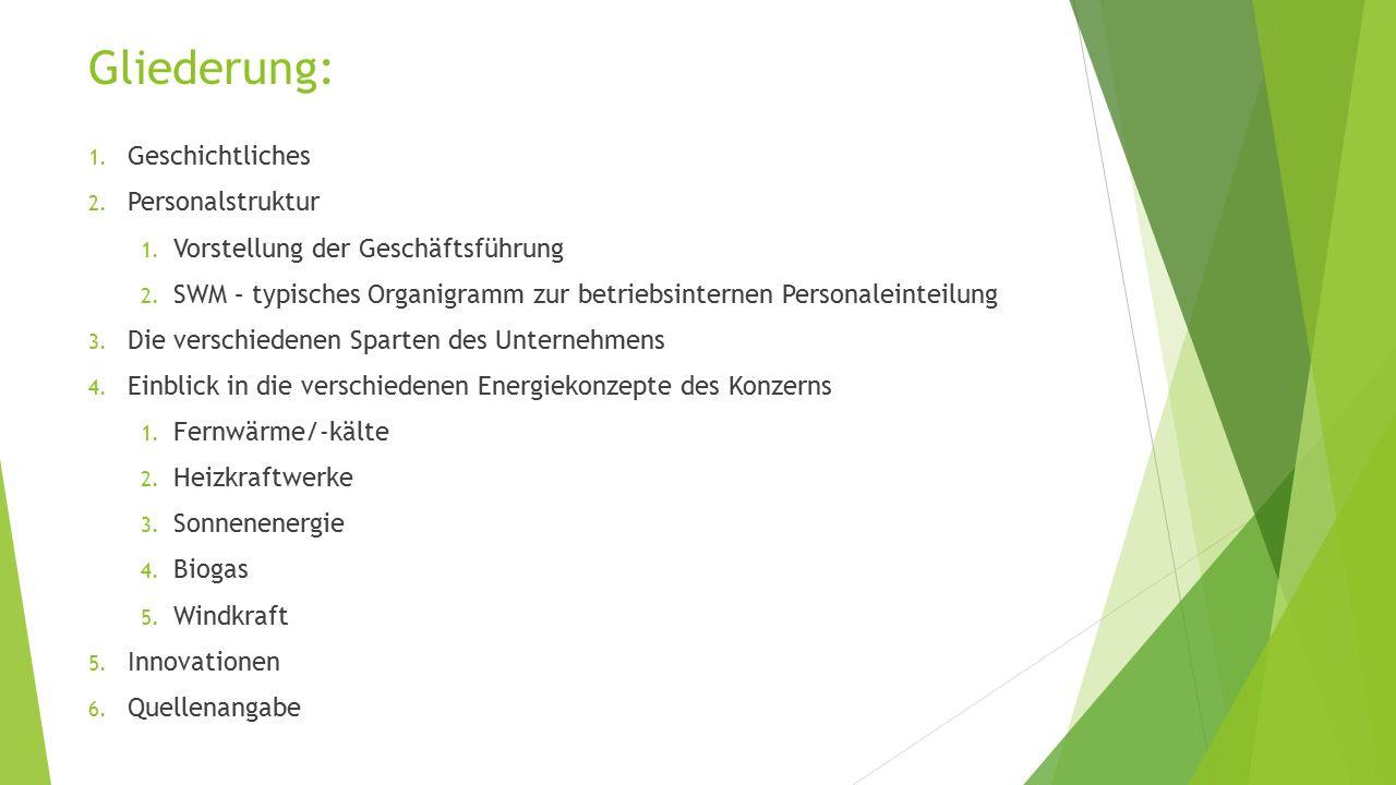 """1.Geschichtliches  Die Stadtwerke München GmbH wie wir sie heute kennen wurde 1998 """"gegründet ."""
