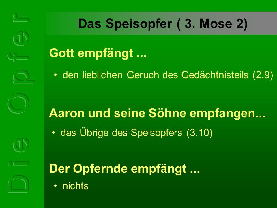 Das Speisopfer ( 3.