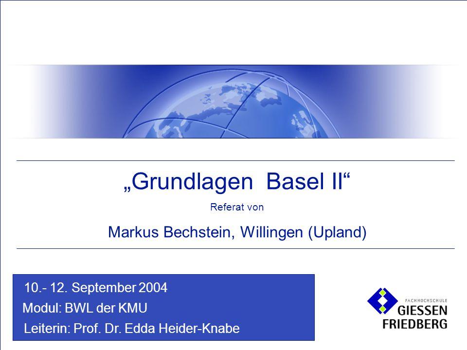 Modul: BWL der KMU Leiterin: Prof. Dr. Edda Heider-Knabe 10.- 12.