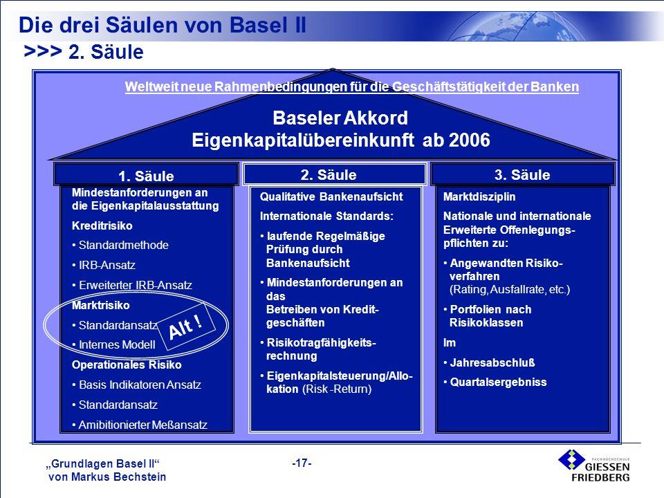 """""""Grundlagen Basel II von Markus Bechstein -17- >>> 2."""