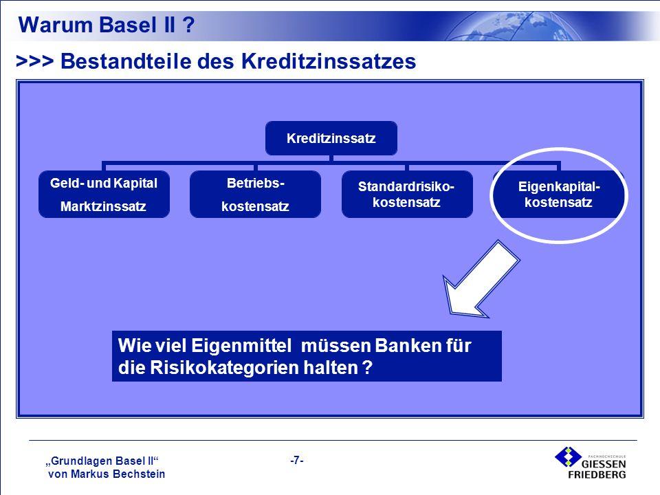 """""""Grundlagen Basel II von Markus Bechstein -7- Warum Basel II ."""