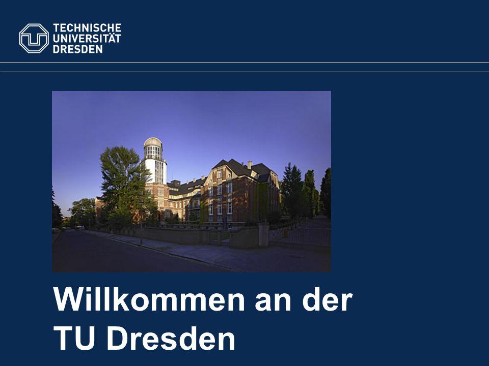 Willkommen an der TU Dresden