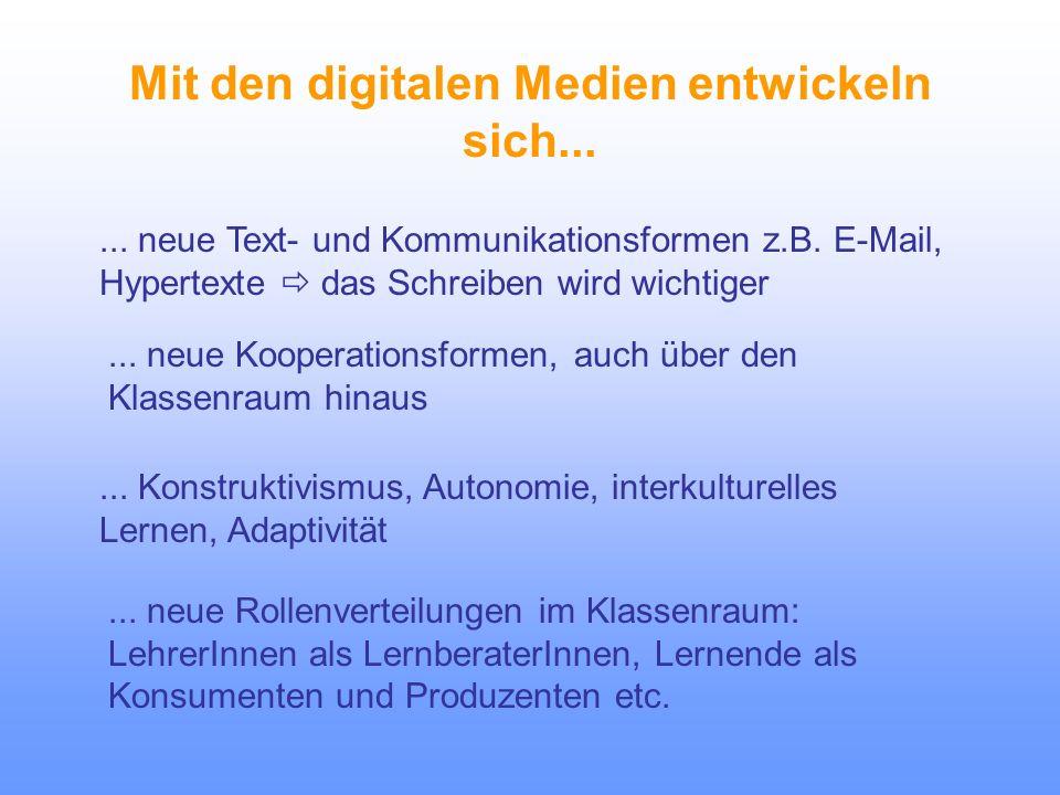 Didaktische Grundsätze zum Einsatz digitaler Medien im FSU 1.Instrumentelle Fertigkeiten (Bedienung) 4.