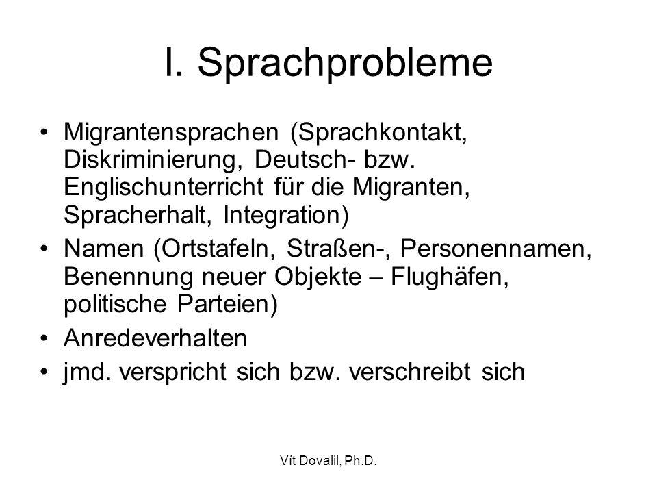 Vít Dovalil, Ph.D.VI. Sprachnormen (Gloy 2004) Teilmenge der sozialen Normen Erwartungen bzw.