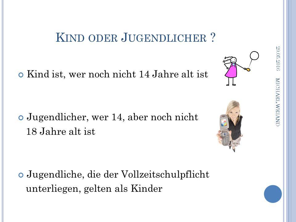 K IND ODER J UGENDLICHER .