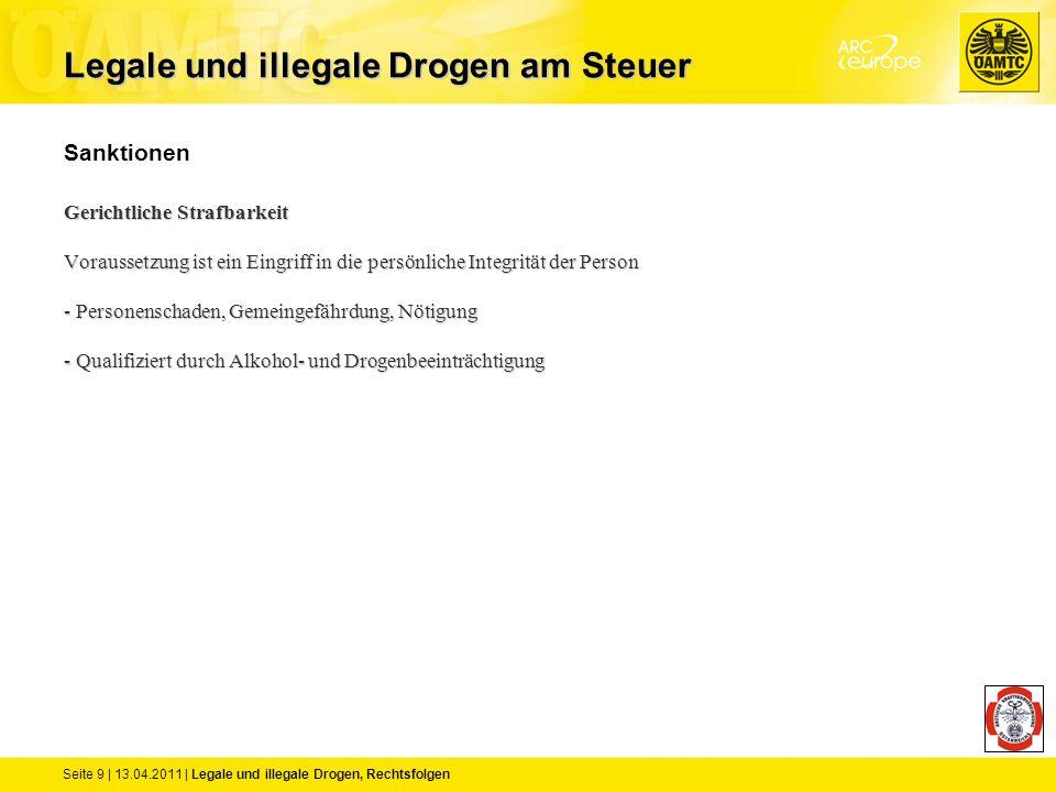 Seite 9 | 13.04.2011 | Legale und illegale Drogen, Rechtsfolgen Sanktionen Gerichtliche Strafbarkeit Voraussetzung ist ein Eingriff in die persönliche