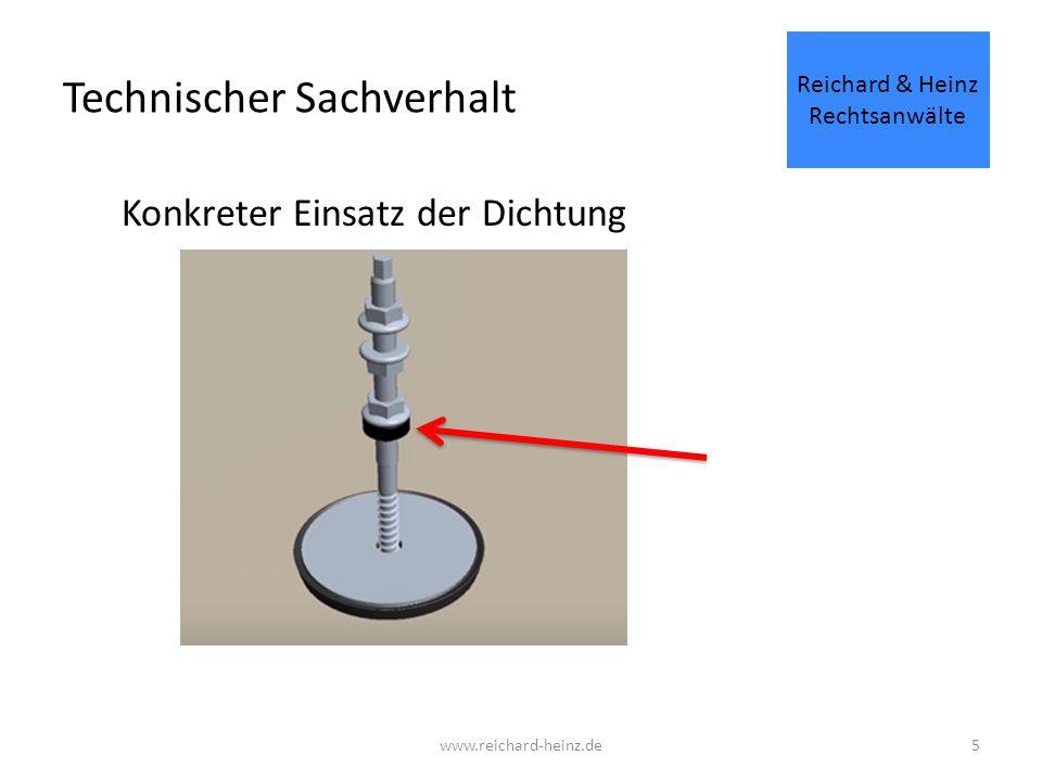 Technischer Sachverhalt Abzudichtender Spalt Reichard & Heinz Rechtsanwälte www.reichard-heinz.de6