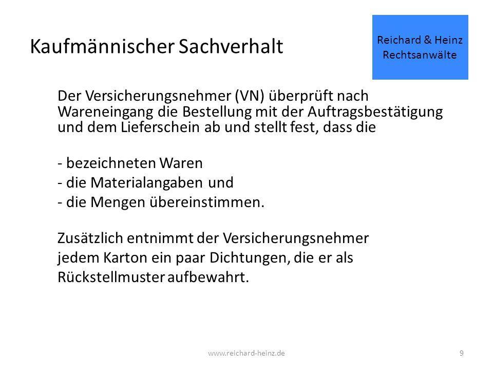 40 Allgemeine Produkthaftpflichtversicherung Ziffer 5.1.