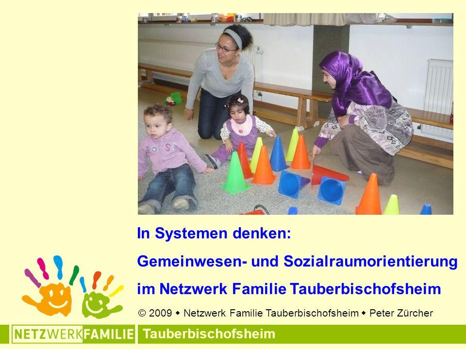 Tauberbischofsheim In Systemen denken: Gemeinwesen- und Sozialraumorientierung im Netzwerk Familie Tauberbischofsheim © 2009  Netzwerk Familie Tauberbischofsheim  Peter Zürcher