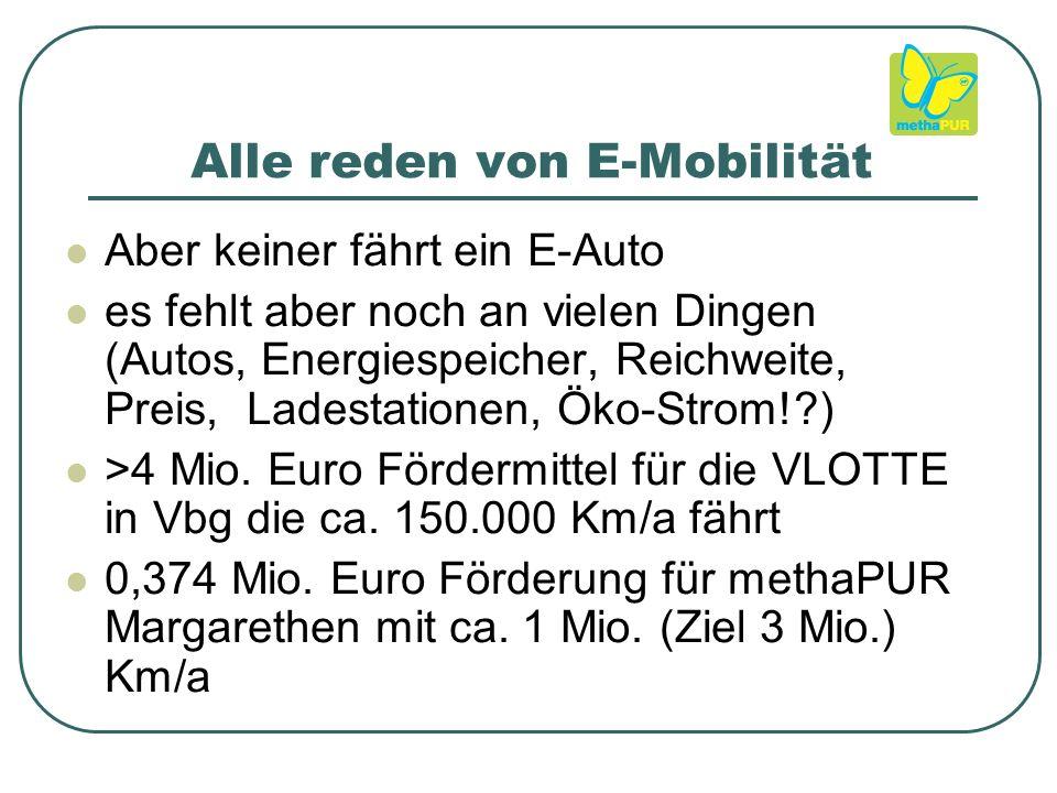 Alle reden von E-Mobilität Aber keiner fährt ein E-Auto es fehlt aber noch an vielen Dingen (Autos, Energiespeicher, Reichweite, Preis, Ladestationen, Öko-Strom! ) >4 Mio.