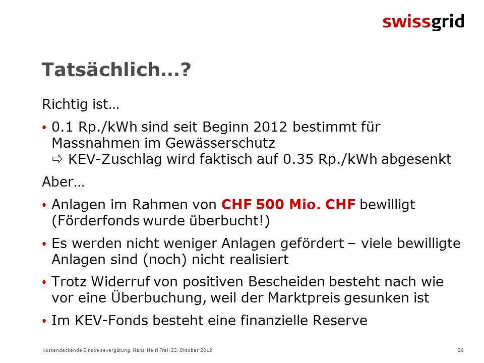 26Kostendeckende Einspeisevergütung, Hans-Heiri Frei, 23.