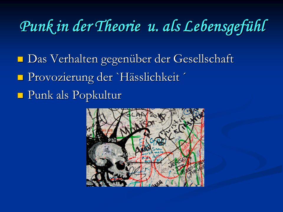 Punk in der Theorie u.