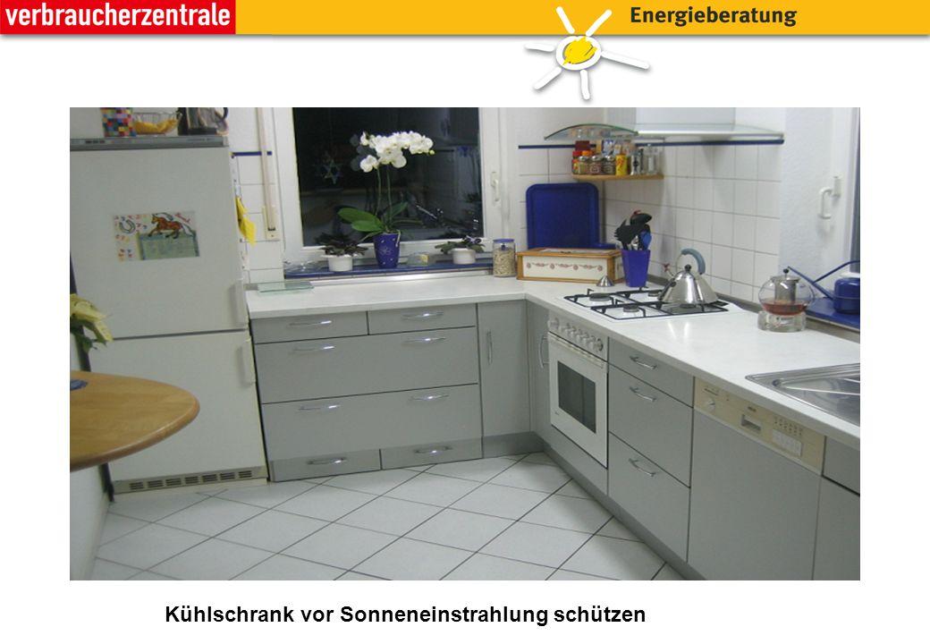 Kühlschrank vor Sonneneinstrahlung schützen