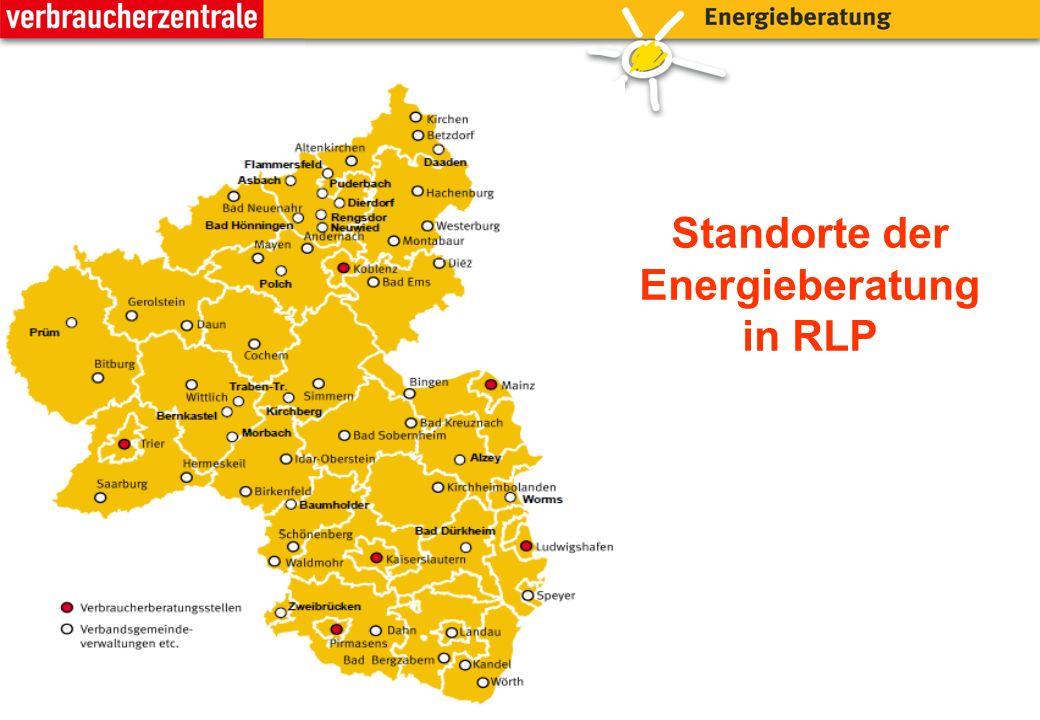 Standorte der Energieberatung in RLP