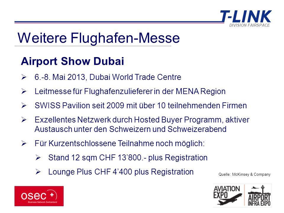 DIVISION FAIRSPACE Weitere Flughafen-Messe Airport Show Dubai  6.-8.