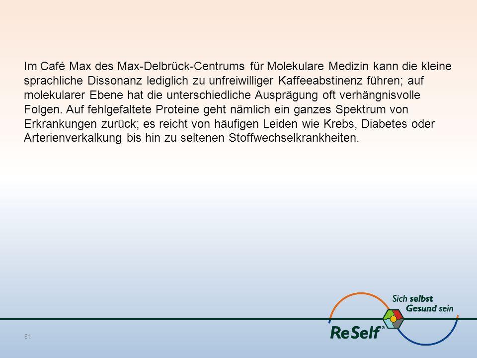 Im Café Max des Max-Delbrück-Centrums für Molekulare Medizin kann die kleine sprachliche Dissonanz lediglich zu unfreiwilliger Kaffeeabstinenz führen;