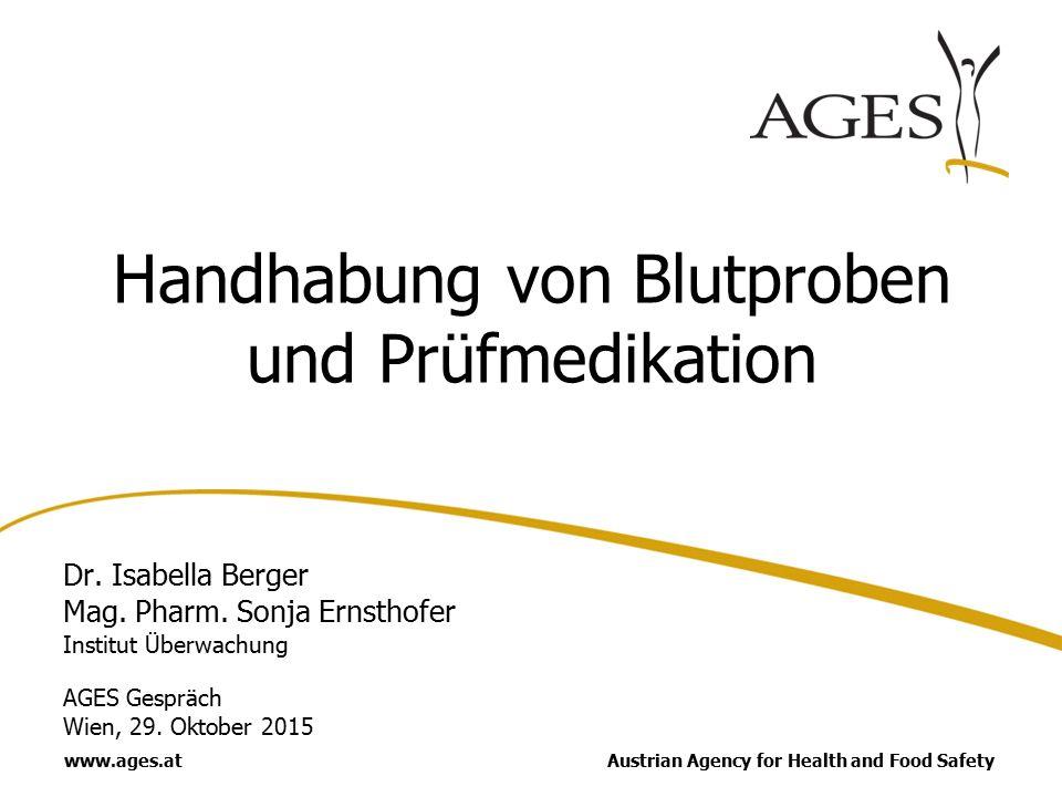 Datenblatt ausfüllen: Erhalt der Email: Matthias Seidl 29.10.2015 122 Beantragen einer EudraCT Nr.