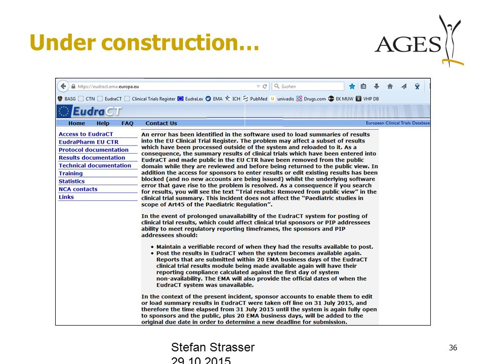Under construction… Stefan Strasser
