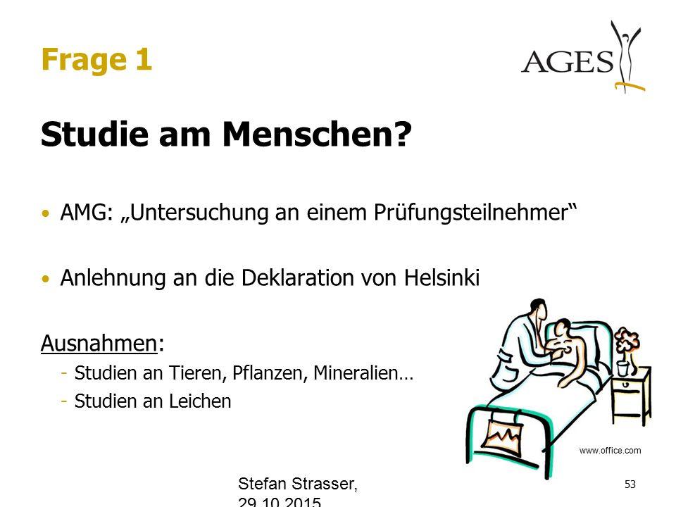 Frage 1 Studie am Menschen.