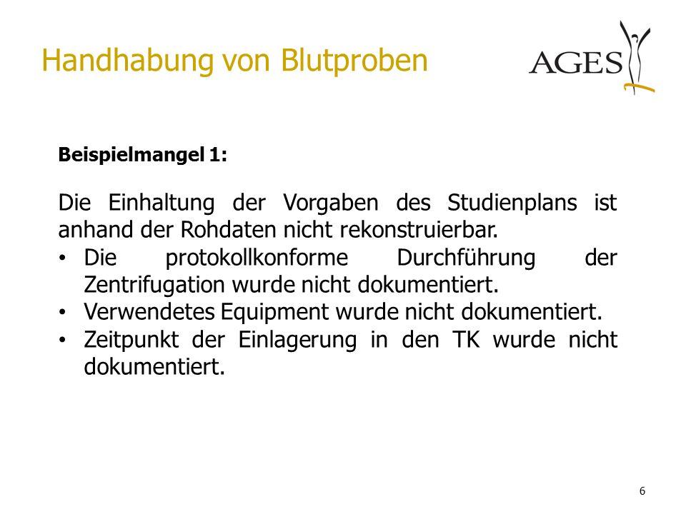 6 Beispielmangel 1: Die Einhaltung der Vorgaben des Studienplans ist anhand der Rohdaten nicht rekonstruierbar.