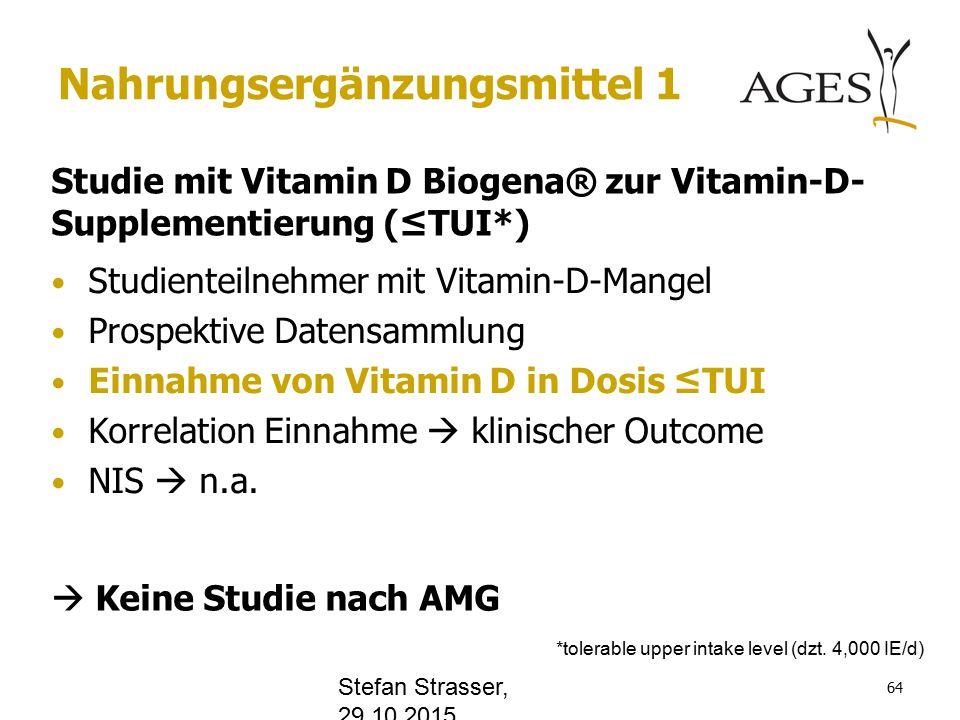 www.office.com Nahrungsergänzungsmittel 1 Studie mit Vitamin D Biogena® zur Vitamin-D- Supplementierung (≤TUI*) Studienteilnehmer mit Vitamin-D-Mangel Prospektive Datensammlung Einnahme von Vitamin D in Dosis ≤TUI Korrelation Einnahme  klinischer Outcome NIS  n.a.