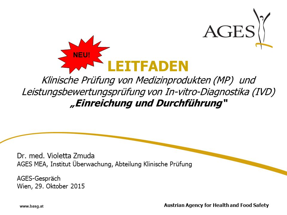 Austrian Agency for Health and Food Safetywww.ages.at Dr.