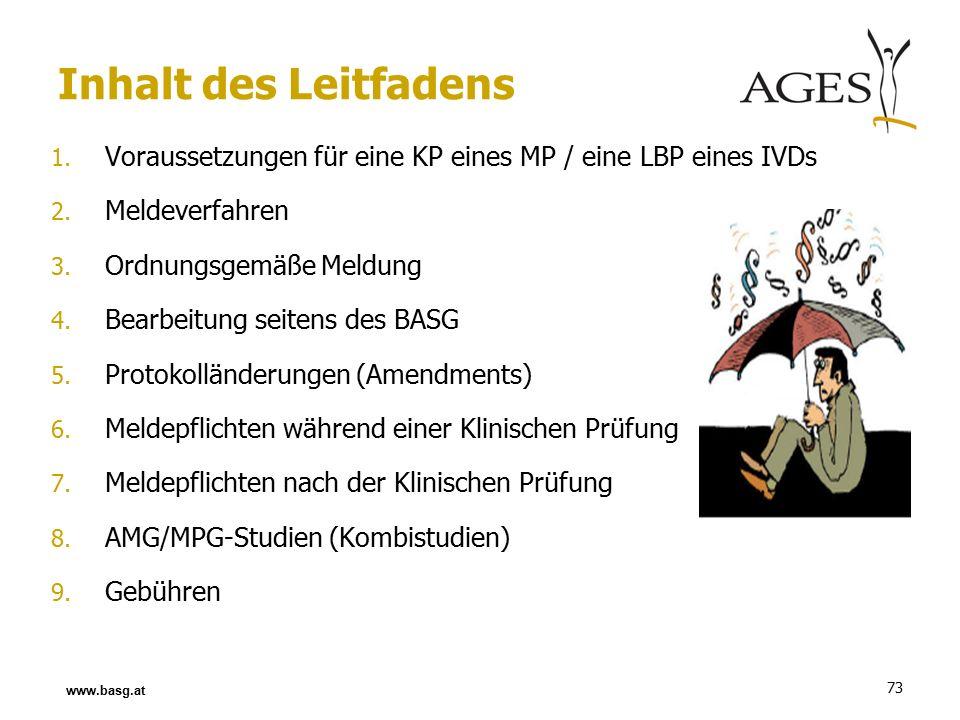 73 1. Voraussetzungen für eine KP eines MP / eine LBP eines IVDs 2.