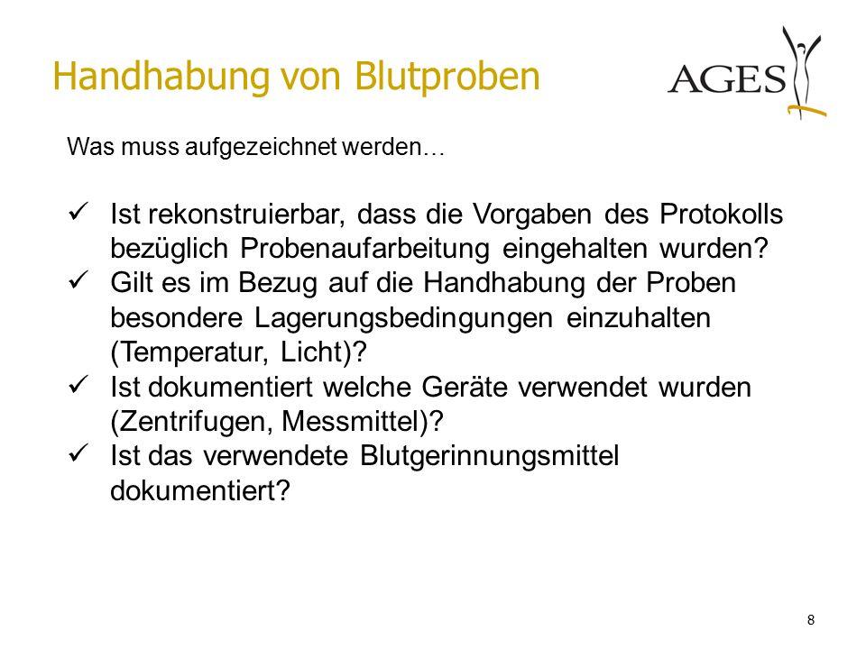 Austrian Agency for Health and Food Safetywww.ages.at Einstufung von AMG Studien Dr.