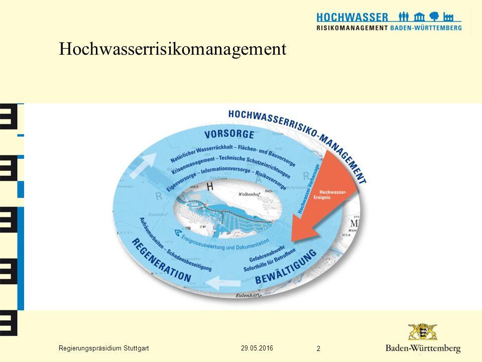 Regierungspräsidium Stuttgart Hochwasserrisikomanagement 29.05.2016 2