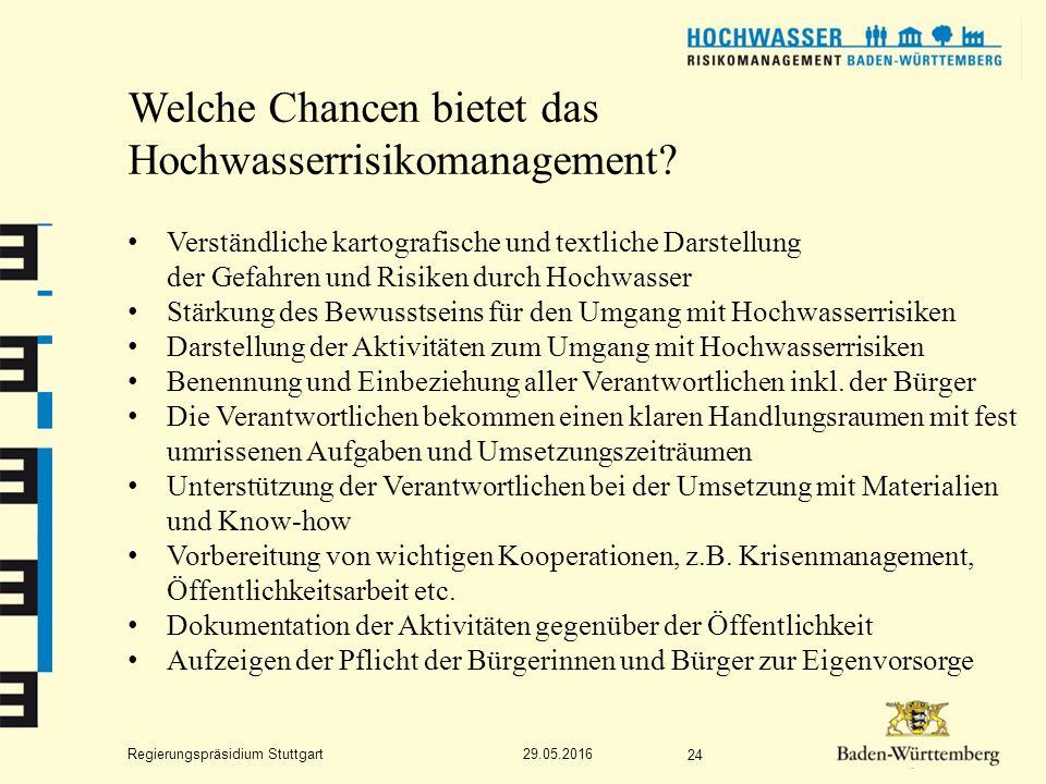 Regierungspräsidium Stuttgart Welche Chancen bietet das Hochwasserrisikomanagement.