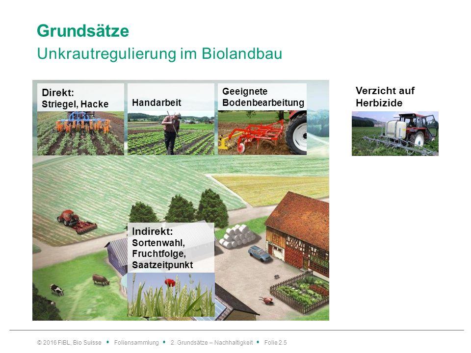 Nachhaltigkeit Ausdauer eines Systems über lange Zeit Bild: FiBL Vorsorge Ökonomie Soziales Nachhaltigkeit = Ausdauer eines Systems über lange Zeit Ökologie © 2016 FiBL, Bio Suisse Foliensammlung 2.