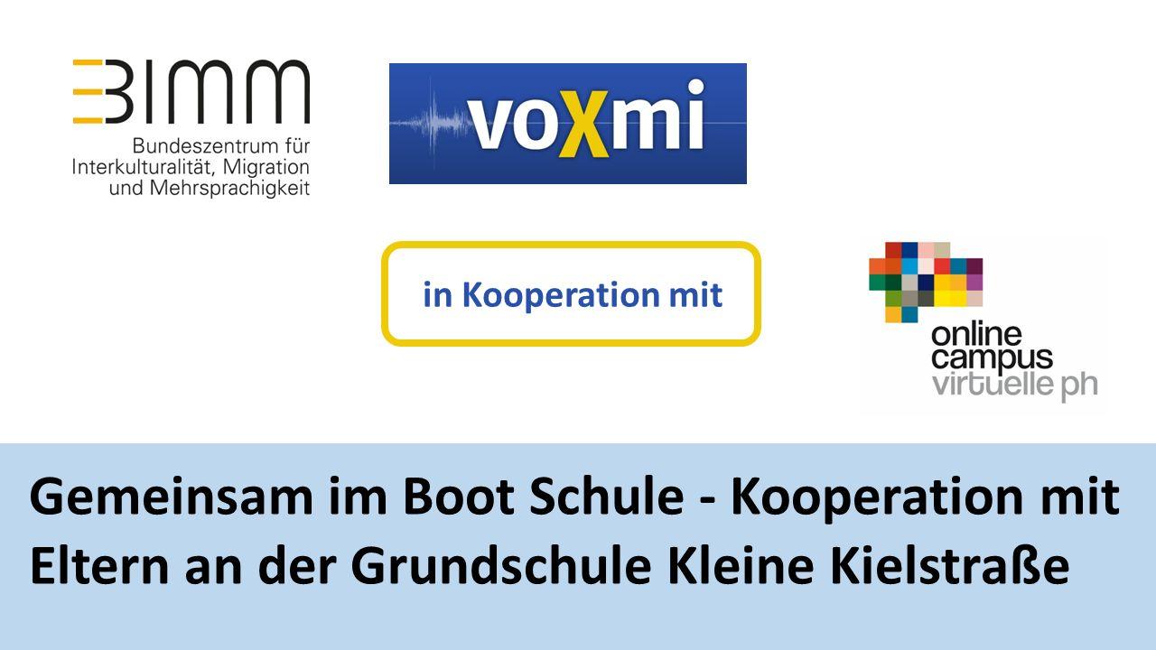 Gemeinsam im Boot Schule - Kooperation mit Eltern an der Grundschule Kleine Kielstraße in Kooperation mit