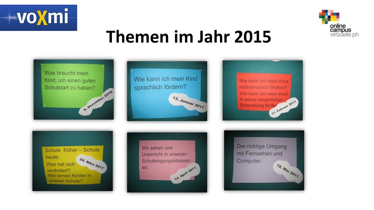 Themen im Jahr 2015