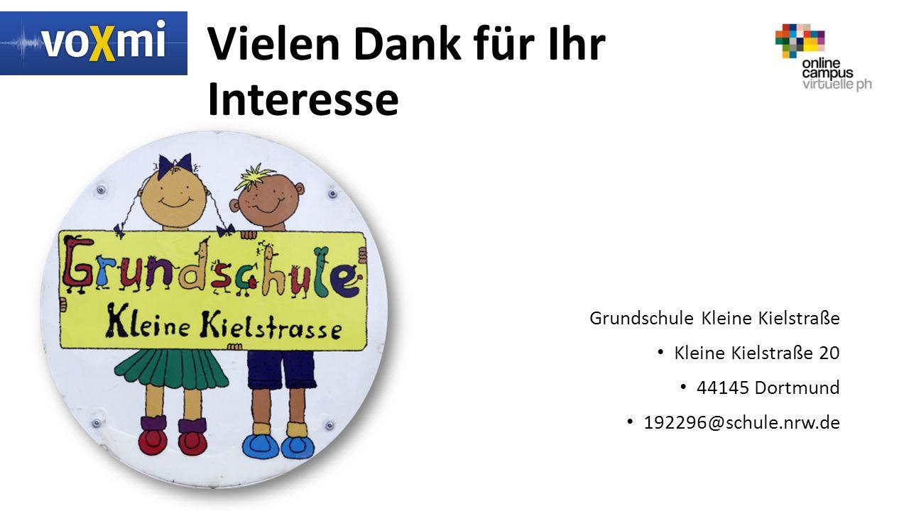 Vielen Dank für Ihr Interesse Grundschule Kleine Kielstraße Kleine Kielstraße 20 44145 Dortmund 192296@schule.nrw.de