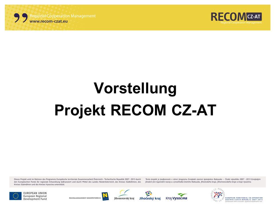 Vorstellung Projekt RECOM CZ-AT