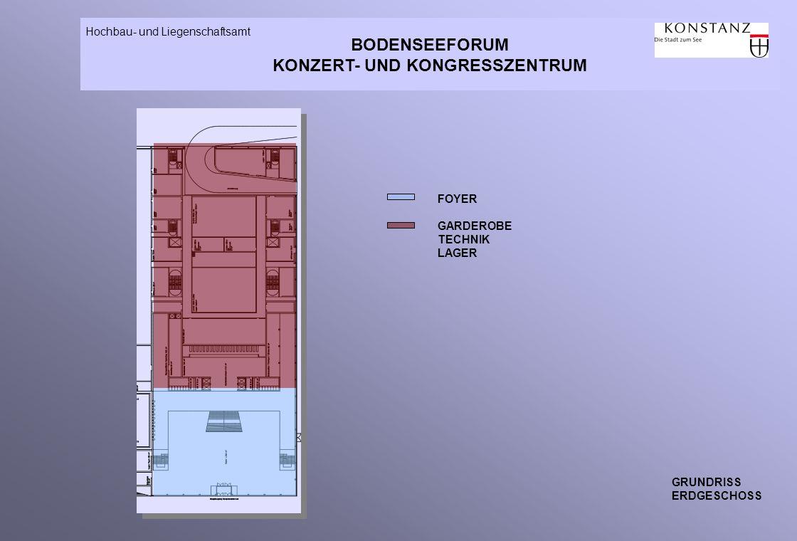 BODENSEEFORUM KONZERT- UND KONGRESSZENTRUM Hochbau- und Liegenschaftsamt GRUNDRISS ERDGESCHOSS FOYER GARDEROBE TECHNIK LAGER